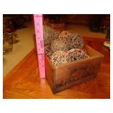 Antique wood California Prunes wood box crate
