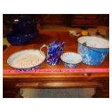 blue / white enamelware