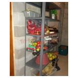 Contents of shelf - picture frames, fruit decor ++