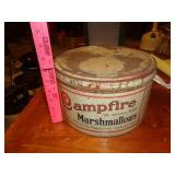 Antique Campfire marshmallow tin w/ lid
