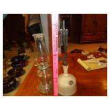 Coleman lantern & glass oil lamp