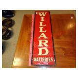 Antique single sided Willard Batteries metal sign