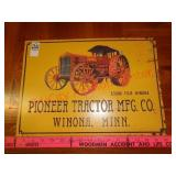Pioneer Tractor mfg co metal sign - Winona, MN