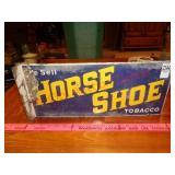 Antique Horse Shoe Tobacco porcelain sign