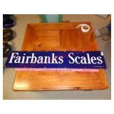 Fairbanks Scales single sided porcelain sign