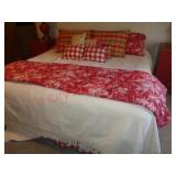 King size bedding-pillows, skirt, sheets, blankets