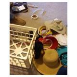 Hats / caps / visors & plastic crate