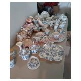 Blue Panube 12 place setting china dish set
