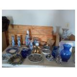 Glass decor - vases, bookends, plates + more