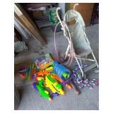 Outdoor kids toys, stroller, water guns