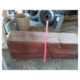 Primitive wood trunk / box / chest