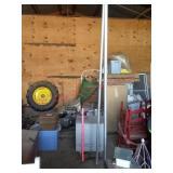 Galvanized storage container & 2 poles