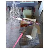 Job lot yard decor / log holders /new tissue paper