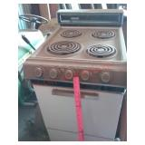 Montgomery Ward apt size stove - needs cleaned