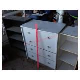 Shelf / bookcase / 4 drawer dresser