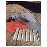 Corrugated metal & chicken wire