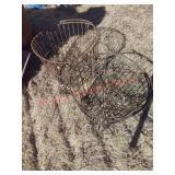 2 antique metal egg baskets