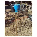 2 large metal plant stands