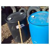 2 plastic drums / barrels