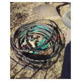 2 garden hoses & sprinklers