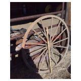 Vintage wood wagon wheel
