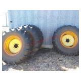 4 tires & rims - 8 bolt wheels w/ 14.9x24 tires