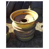 3 rims for worm drive pivot - 8 bolt wheels