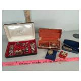 Assorted costume jewelry, cuff links