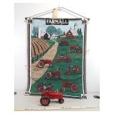 Ertl Farmall toy tractor & tapestry