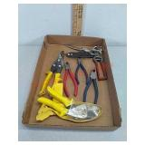 Various tin snips & side cutters