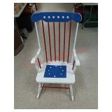 Lady Liberty painted rocking chair, by local