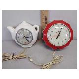 GE & sessions electric wall clocks, both work