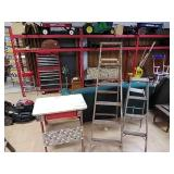 Wood ladders & table