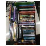Lot of books, movies, music, books on tape & cd
