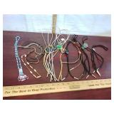 Lot of bolo ties & western beaded necklaces &