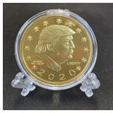 Trump Novelty Coin in case w/ stand