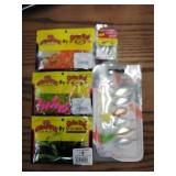Lot of new fishing lures bait spinners