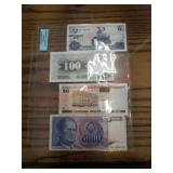 4 foreign bill collection