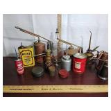 Antique machinist oil cans, lubricant, Eagle &