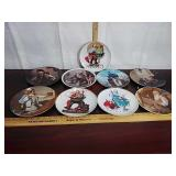 Lot of 9 Norman Rockwell collectible plates