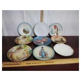 Lot of 9 collectible plates - mother