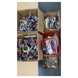 Large lot of Advertising Pens, pencils, & hole