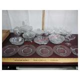 Lot of vintage cut & etched glass