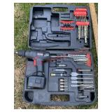 Craftsman drill in cars w/ various attachments