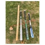 3 aluminum baseball bats