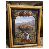 Coors Natures Series No. 4 Buffalo mirror