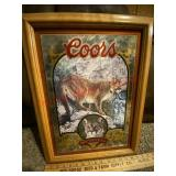 Coors Natures series No. 3 mountain lion mirror