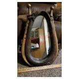 Antique yolk horse collar mirror
