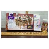 Wilton Cone Cake Rack, Decorating Bags, &