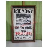 Baseball World Series framed artwork